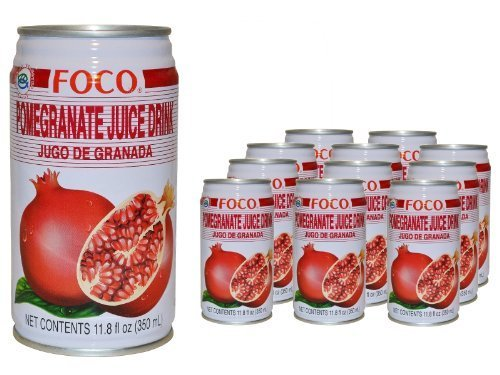 juice drink pomegranate Foco Nutrition info