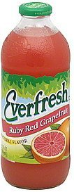 juice drink ruby red grapefruit Everfresh Nutrition info