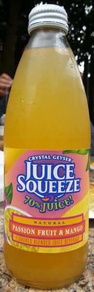 juice squeeze passion fruit mango Crystal Geyser Nutrition info