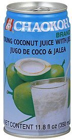 juice young coconut, with jelly Chaokoh Nutrition info