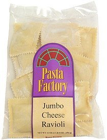 jumbo cheese ravioli Pasta Factory Nutrition info
