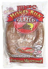 jumbo honey bun, glazed Cloverhill Bakery Nutrition info