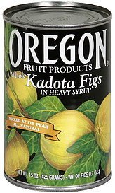 kadota figs whole, in heavy syrup Oregon Fruit Products Nutrition info