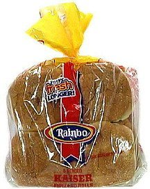 kaiser enriched rolls Rainbo Nutrition info