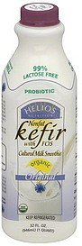 kefir nonfat, with fos, organic, original Helios Nutrition info