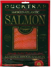 kendall brook salmon naturally smoked fresh & pre-sliced Ducktrap Nutrition info