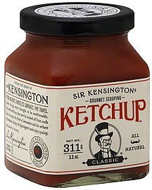 ketchup gourmet scooping, classic Sir Kensingtons Nutrition info