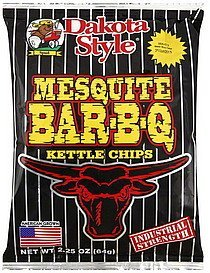 kettle chips mesquite bar-b-q Dakota Style Nutrition info