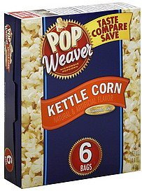 kettle corn Pop Weaver Nutrition info