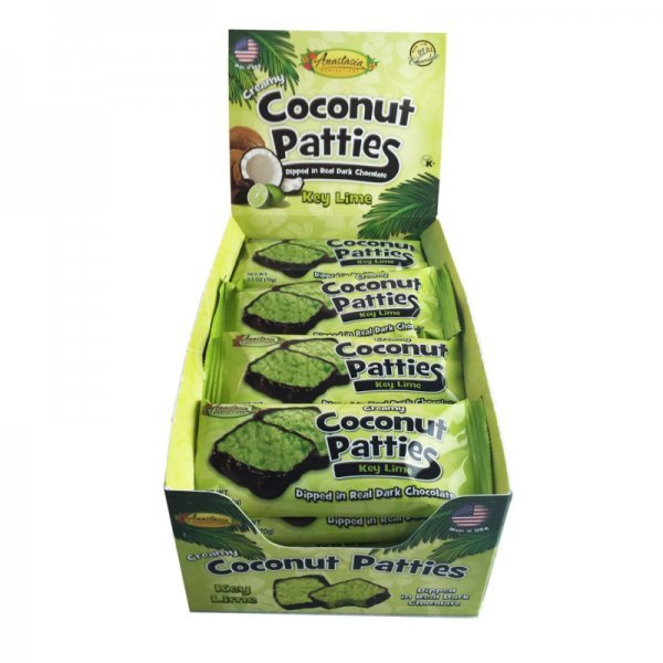 key lime coconut patties Anastasia Confections Nutrition info