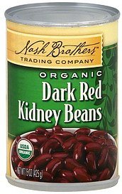 kidney beans dark red, organic Nash Brothers Trading Company Nutrition info