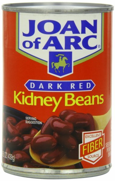 kidney beans dark red Joan of Arc Nutrition info
