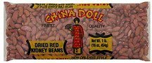kidney beans dried red China Doll Nutrition info
