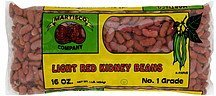 kidney beans light red Martisco Bean Company Nutrition info