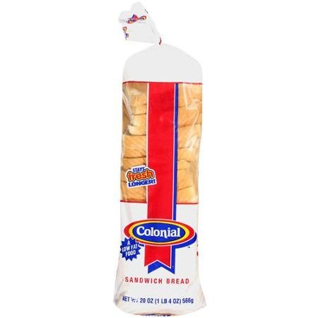 king thin enriched sandwich bread Colonial Nutrition info