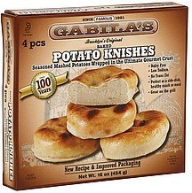 knishes potato, baked Gabilas Nutrition info