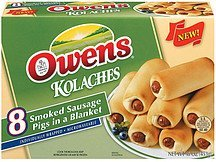 kolaches smoked sausage pigs in blanket Owens Nutrition info