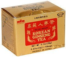 korean ginseng tea deluxe, instant Royal King Nutrition info