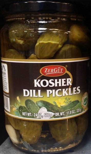 kosher dill pickles Zergut Nutrition info