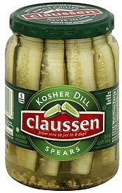 kosher dill spears Claussen Nutrition info