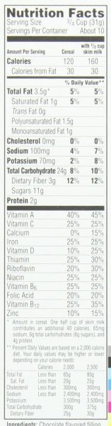 Krave chocolate cereal. Nutrition Facts