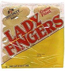 lady fingers, creme filled Specialty Bakers Nutrition info