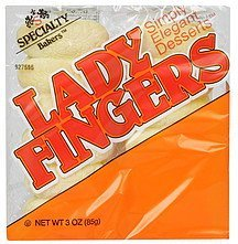 lady fingers Specialty Bakers Nutrition info