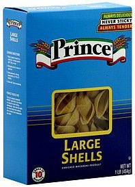 large shells Prince Nutrition info