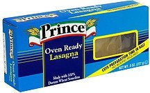 lasagna oven ready Prince Nutrition info