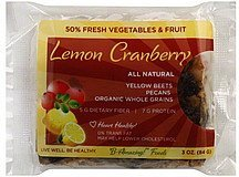 lemon cranberry bar B-Amazing! Foods Nutrition info