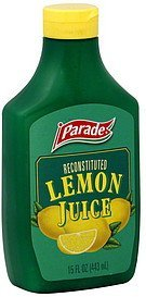lemon juice reconstituted Parade Nutrition info