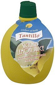 lemon juice sicilian Tantillo Nutrition info