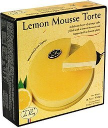 lemon mousse torte Delice du Roy Nutrition info
