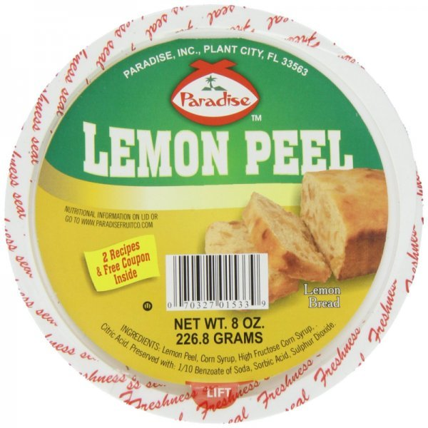 lemon peel diced Paradise Nutrition info