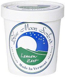 lemon zest sorbet Blue Moon Sorbet Nutrition info