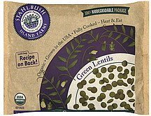 lentils green Stahlbush Island Farms Nutrition info