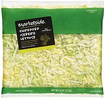 lettuce shredded iceberg Marketside Nutrition info