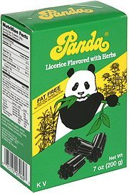 licorice flavored with herbs Panda Nutrition info