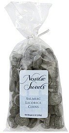 licorice salmiac coins Nordic Sweets Nutrition info