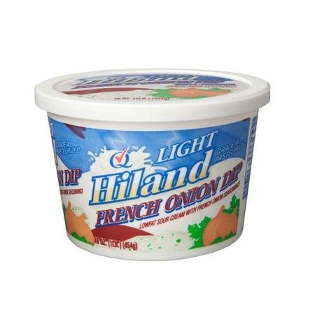 light french onion dip Hiland Nutrition info
