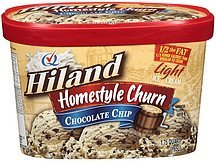 light ice cream homestyle churn chocolate chip Hiland Nutrition info