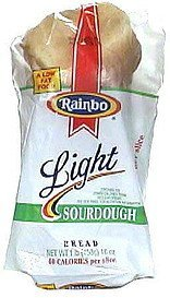 light sourdough bread Rainbo Nutrition info