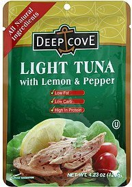 light tuna with lemon and pepper Deep Cove Nutrition info