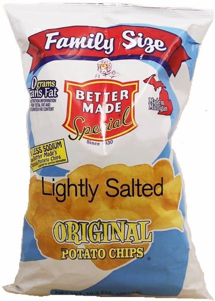 lightly salted original potato chips Better Made Nutrition info