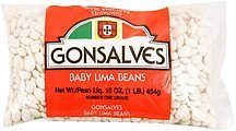 lima beans baby Gonsalves Nutrition info