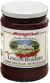 lingon berries wild swedish Midnight Sun Nutrition info