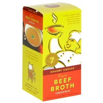 liquid beef broth concentrate Savory Choice Nutrition info