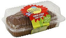 loaf cake lemon citrus Butterfly Bakery Nutrition info