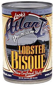 lobster bisque new england style Atlantic Nutrition info