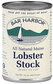 lobster stock Bar Harbor Nutrition info